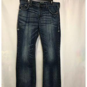 Affliction Black Premium Jeans Grant 36 Regular